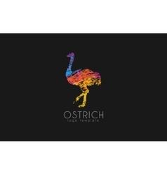 Ostrich logo design Creative logo Bird logo vector