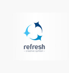 refresh circle creative symbol concept clean star vector image