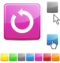 Refresh glossy button vector