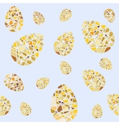 Repeating pattern of mosaic Easter eggs Seamless vector image