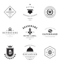 Retro Logotypes set vector image vector image