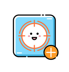 Scope lineal color icon vector