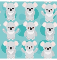 Seamless pattern -Funny cute koala on blue vector image