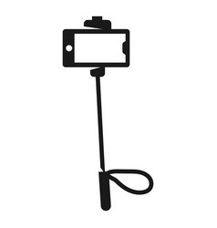 selfie smartphone stick icon simple style vector image