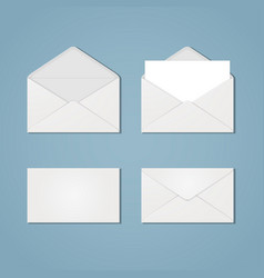 set of envelope forms vector image
