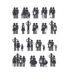 set social family member together with son vector image