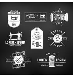 set vintage tailor labels emblems and design vector image