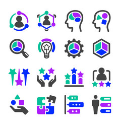 talent icon set vector image