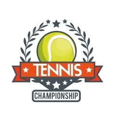 tennis championship ball star banner vector image
