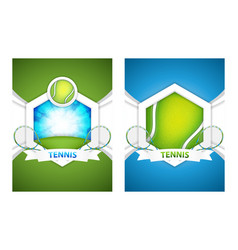 tennis posters vector image