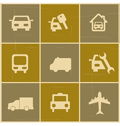 transport icons over colorful background vector image