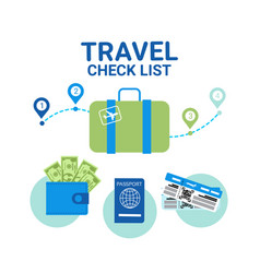 travel check list icons template banner vacancy vector image