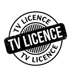Tv licence rubber stamp vector