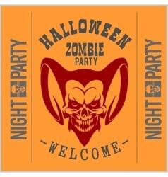 Vintage Typography Halloween Badges Logos vector image