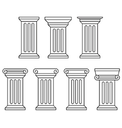 Classic column icon set vector image vector image