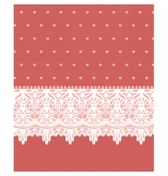 Invitation card with lovely lace ornaments vector
