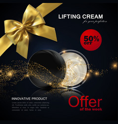 lifting facial cream ads poster template vector image vector image