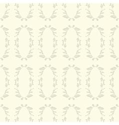 Neutral floral ornament Beige plant vector image vector image