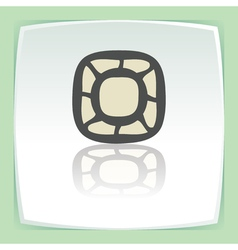 outline empty plate or bowl icon Modern vector image vector image