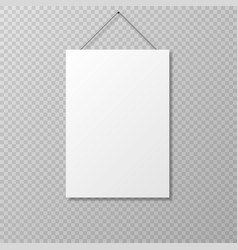realistic empty paper sheet mockup vector image