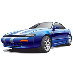 drag sports car vector image vector image