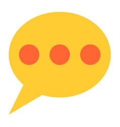 flat speech bubble icon chat room sign button vector image vector image