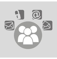group bubble speech social media vector image