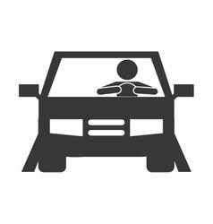 human driver car icon vector image vector image