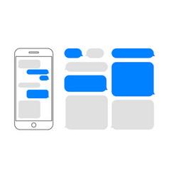 message bubbles chat smartphone design vector image