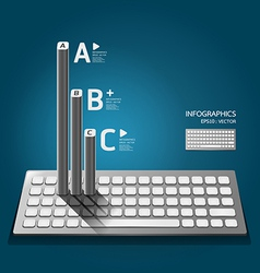 Modern keyboard infographics education vector image vector image