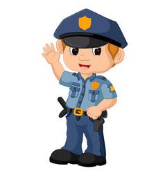 policeman cartoon vector image vector image