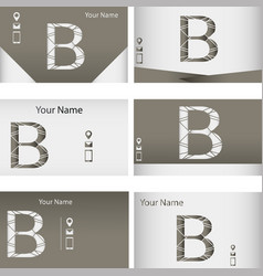 Set of business cards with letter z vector