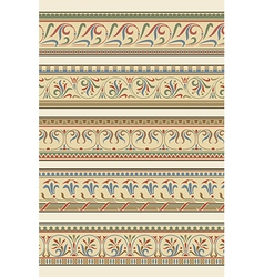 Set of five decorative borders ornamental vector image vector image