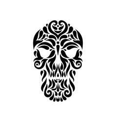 Tribal tatto skull vector image