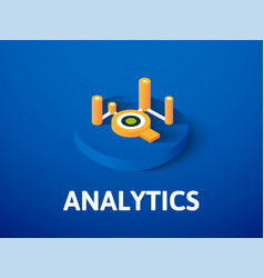 analytics isometric icon isolated on color vector image