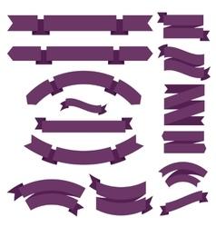 Big Purple Ribbons Set vector image