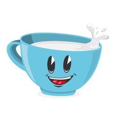 Cute cup of milk vector image vector image