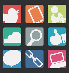 manager icons design vector image