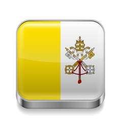 Metal icon of Vatican City vector image vector image