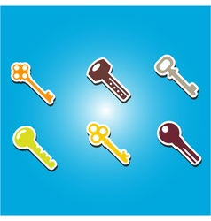 color icons with keys vector image