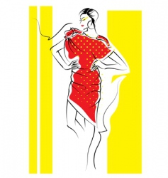 fashion sketch vector image vector image