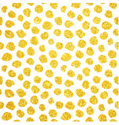hand drawn gold dots seamless pattern vector image vector image