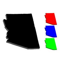3d map of arizona vector image