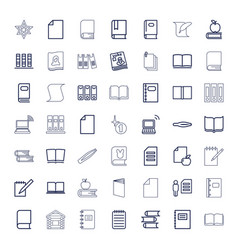 49 book icons vector