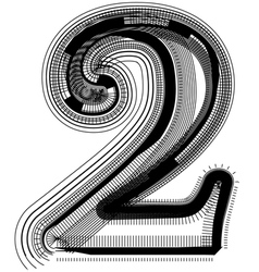 Abstract font number 2 vector