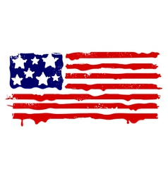 abstract grunge flag usa vector image