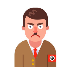 Adolf hitler a nazi dictator character in germany vector