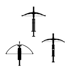 Ancient crossbow on white background vector