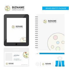 Bacteria plate business logo tab app diary pvc vector