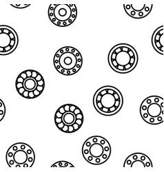 Ball bearing mechanism seamless pattern vector